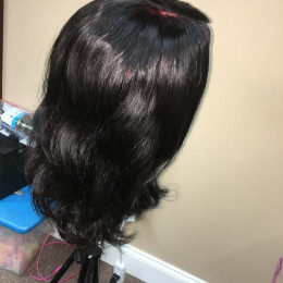 Brazillian hair two bundles plus lace closure