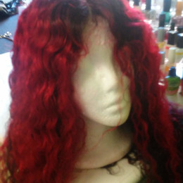 Ruby Afro curly Ombre Full Lace Wig