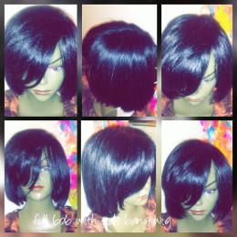 Wow!! full human layered bob custom wig 10-12 inch