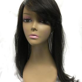 Human Hair Bang-topper, Yaki Perm Straight Hair 18\