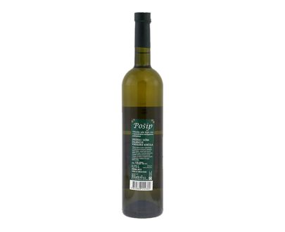 Posip wijn vrhunsko, achterkant fles