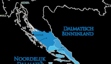 Wijngebieden in Dalmatië