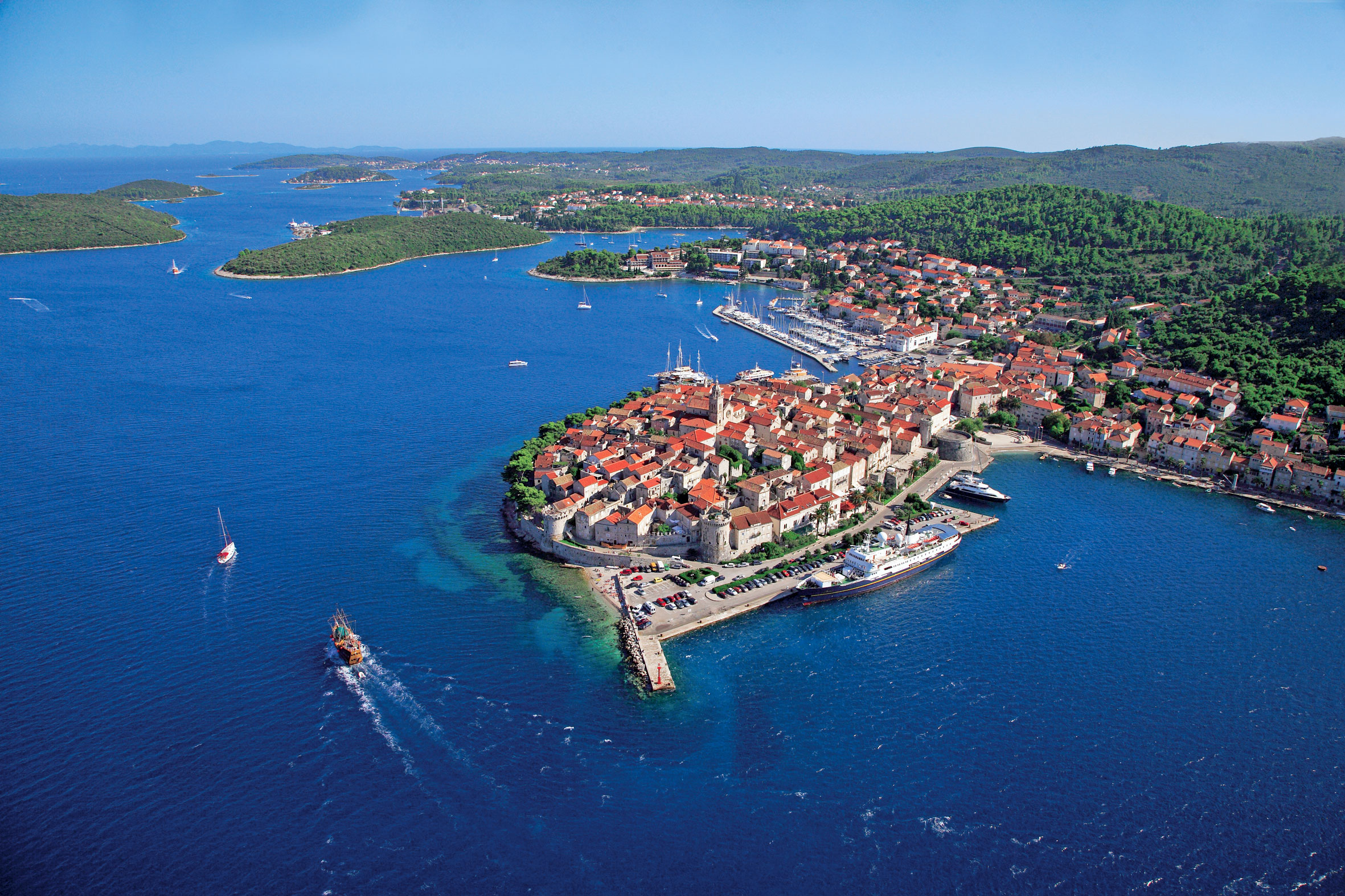 Het eiland Korčula