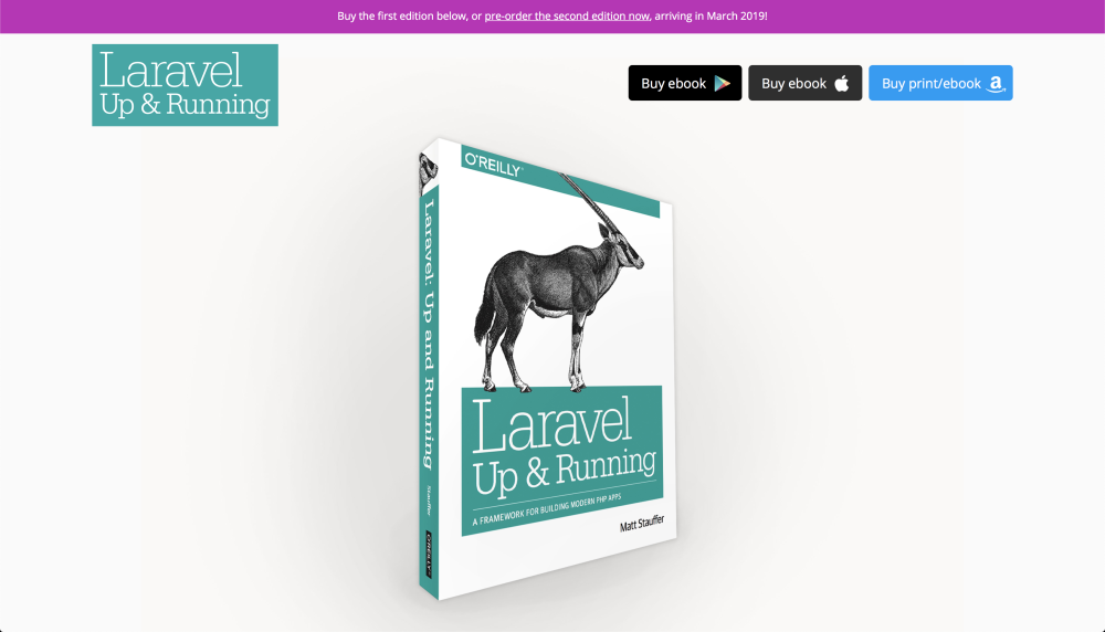 Laravel up and Running 2nd Edition