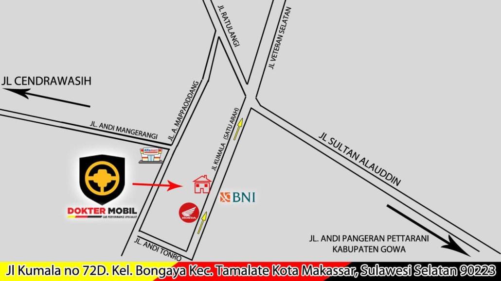 Dokter Mobil Makassar Map