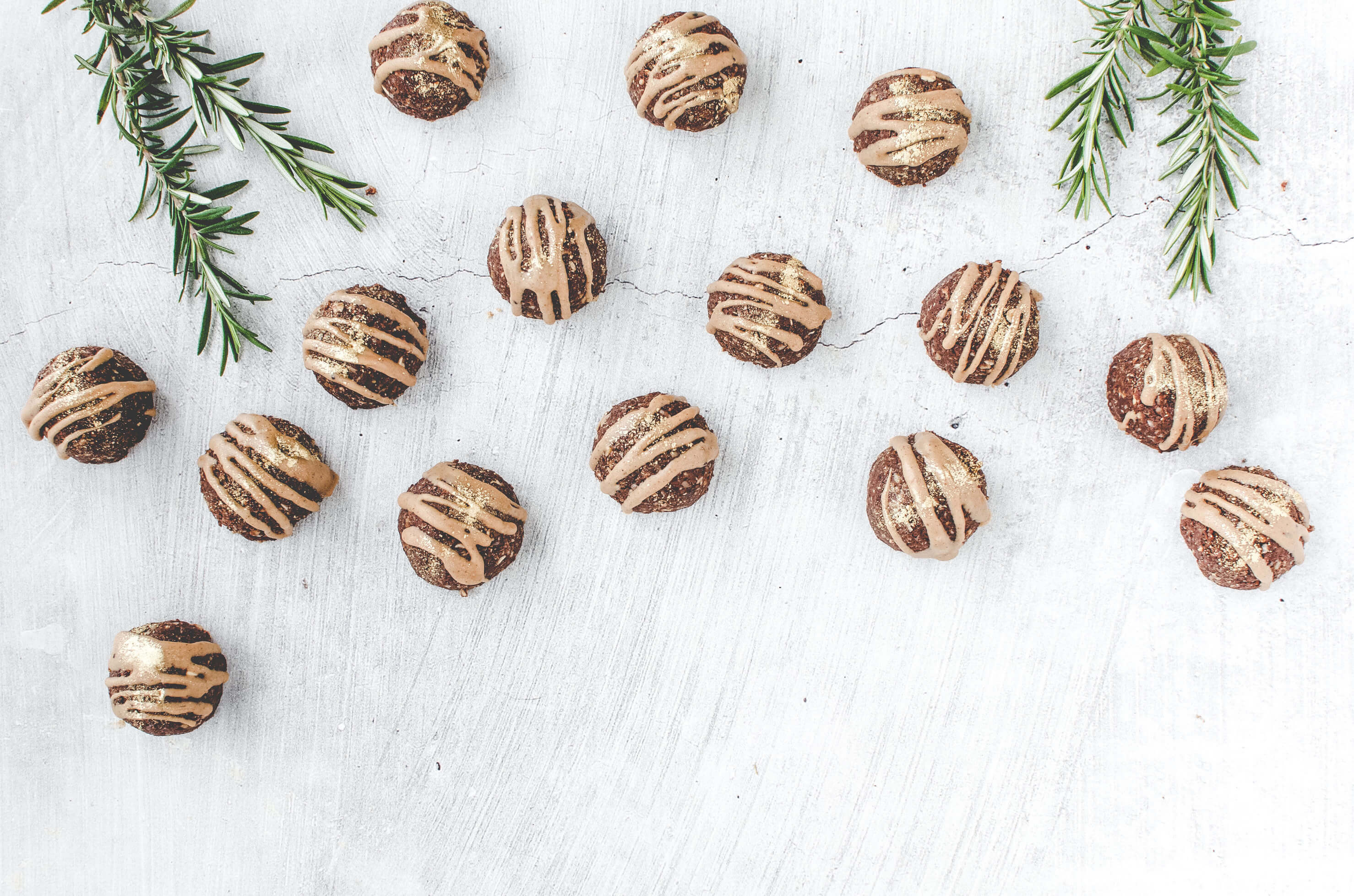 No-Bake Gingerbread Mounds on grey background