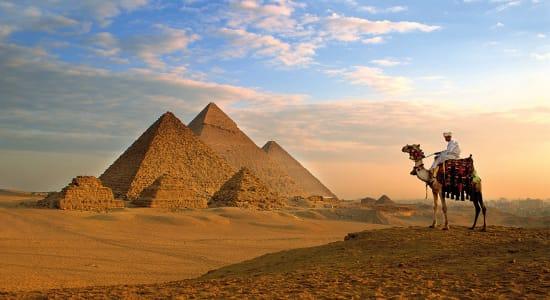 egypt giza pyramids camel