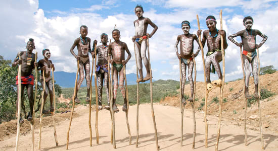 boys stilts ethiopia