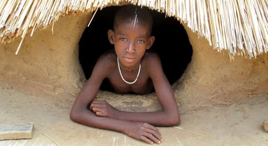 ghana togo benin child hut