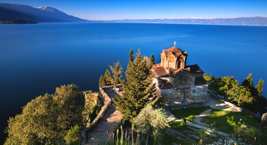 caspian odyssey church macedonia ocean cliff