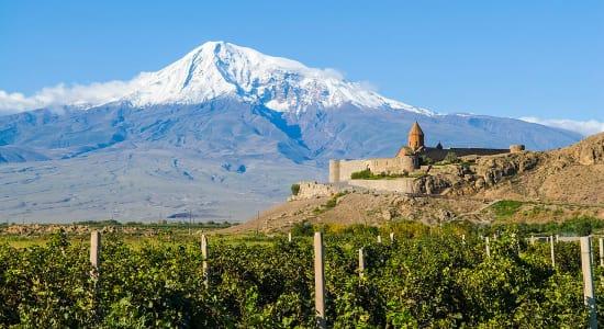 1 slide trans caucasus armenia azerbaijan svaneti snow capped mountain pano