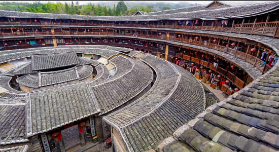 1 slide fujian tulou china hakka pano
