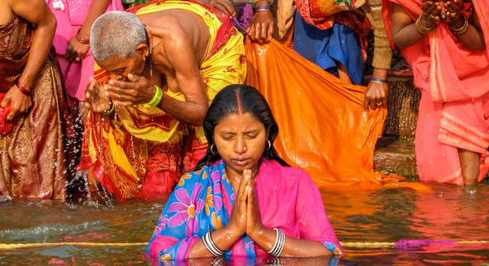 india prayers ganges