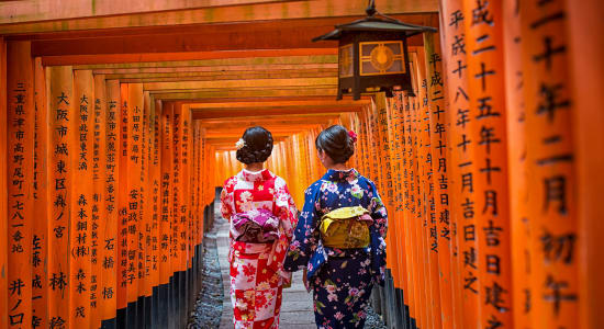 tori gate at fushimi inari shrine in kyoto