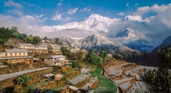 1 slide ghandrung village nepal annapurna pano