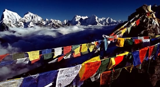 1 slide nepal trek everest prayer flags pano