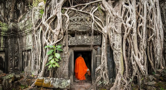 indochine cambodia monk ruins ancient angkor wat