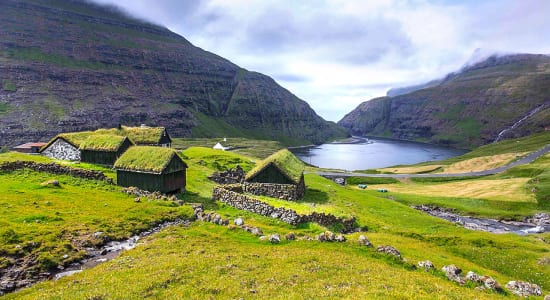 denmark faroe islands cottages