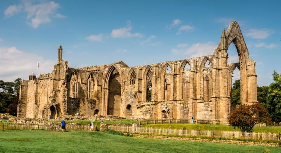 1 slide bolton abbey yorkshire england pano