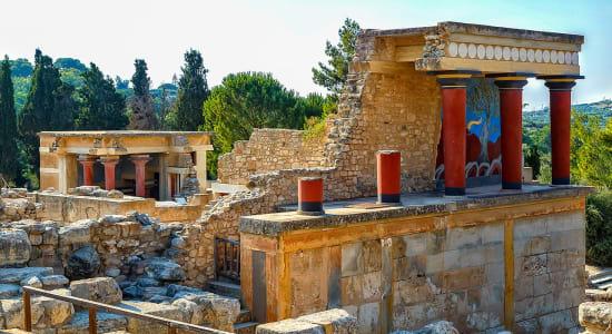 greece crete knossos ruins columns