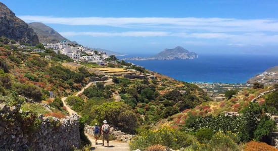 1 slide greek isles hiking white buildings pano