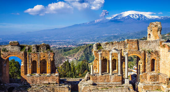 sicily taormina ruins