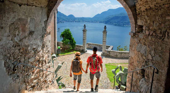 1 slide italy lakes couple hike morcote lugano pano