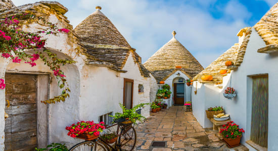 italy puglia white washed houses
