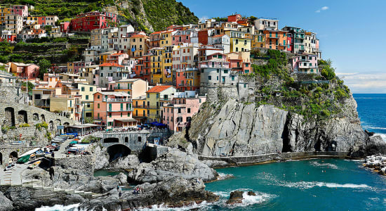 1 slide italy cinque terre ligurian sea medieval hilltown pano