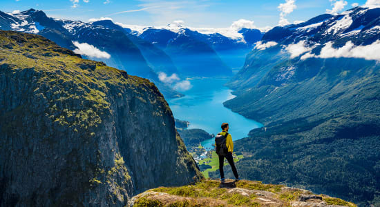 norway fjord hiker loen sogn og fjordane