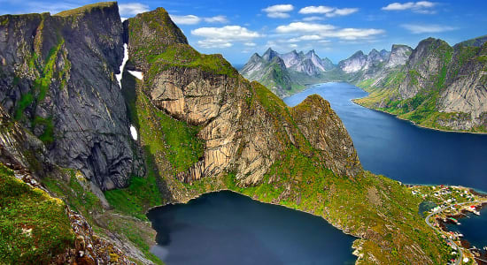 1 slide norway lofoten islands lake pano