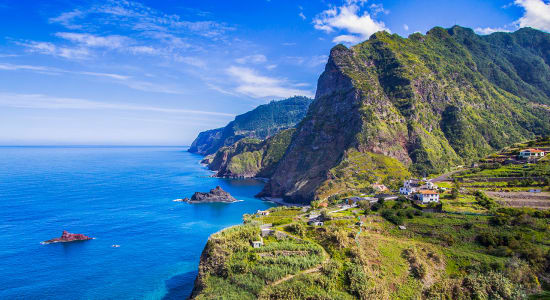 portugal porto moniz sea cliffs santana