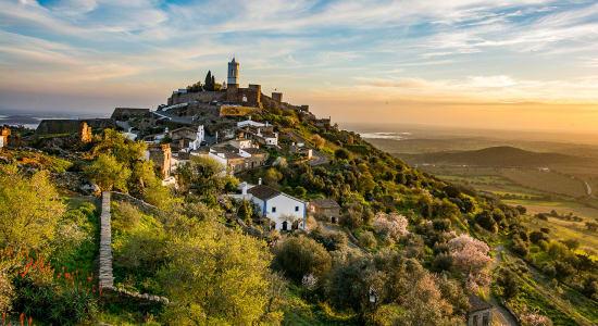 portugal monsaraz town sunset