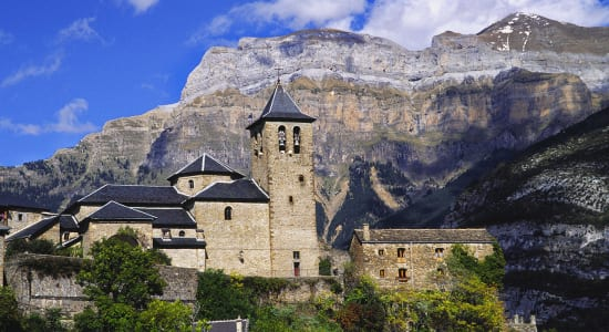 torla church monte perdido pyrenees aragon spain