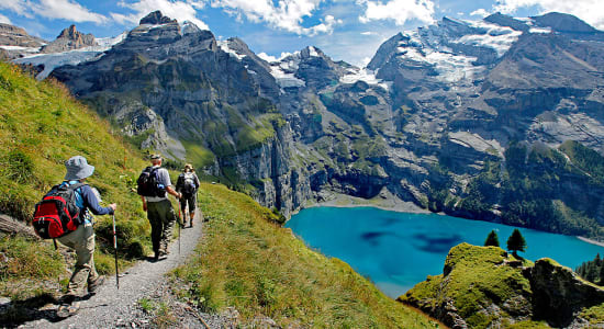 1 slide switzerland lake oeschinensee trek pano
