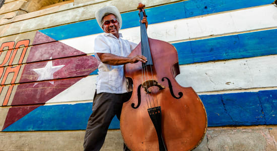 cuba santiago musician flag mural