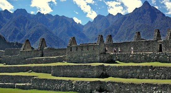1 slide peru machu picchu city walls mountains pano