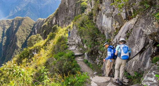 inca trail peru hikers mountains