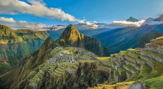 1 slide peru machu picchu peak morning pano
