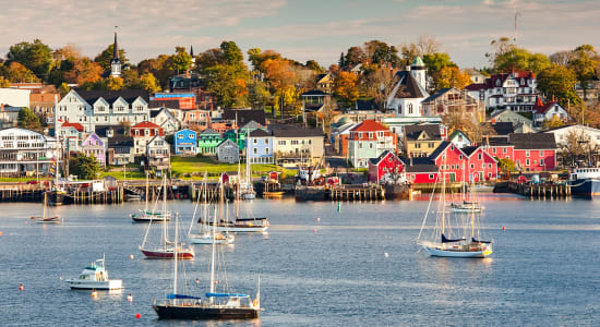 lunenburg nova scotia waterfront boats