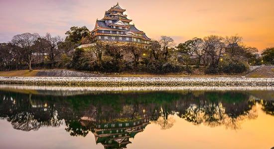 japan okayama castle on the asahi river