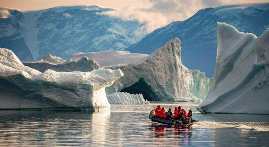 zodiac antarctica iceberg