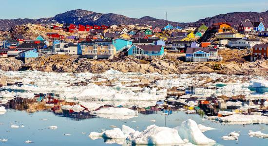 greenland coastline ilulissat icebergs