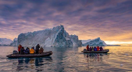 canada northwest passage greenland ilulissat zodiacs iceburgs