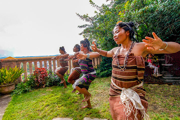 Local women dancing in Madagascar