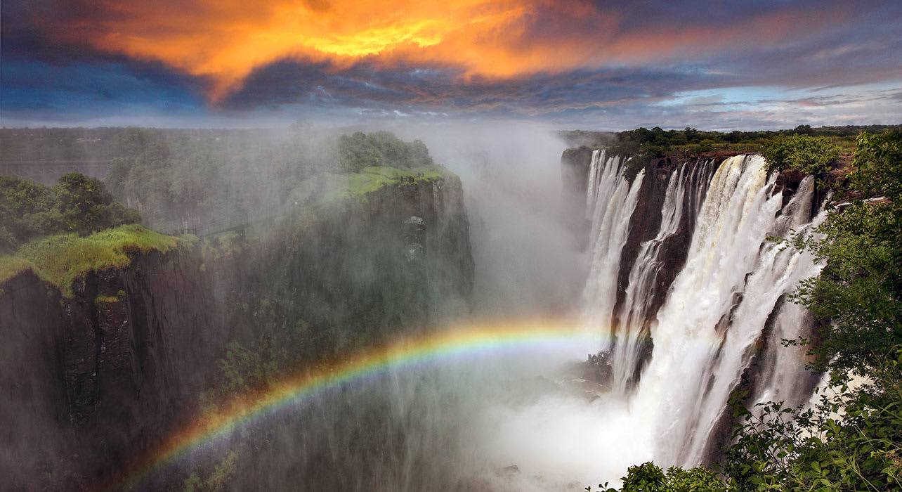 zimbabwe africa victoria falls rainbow