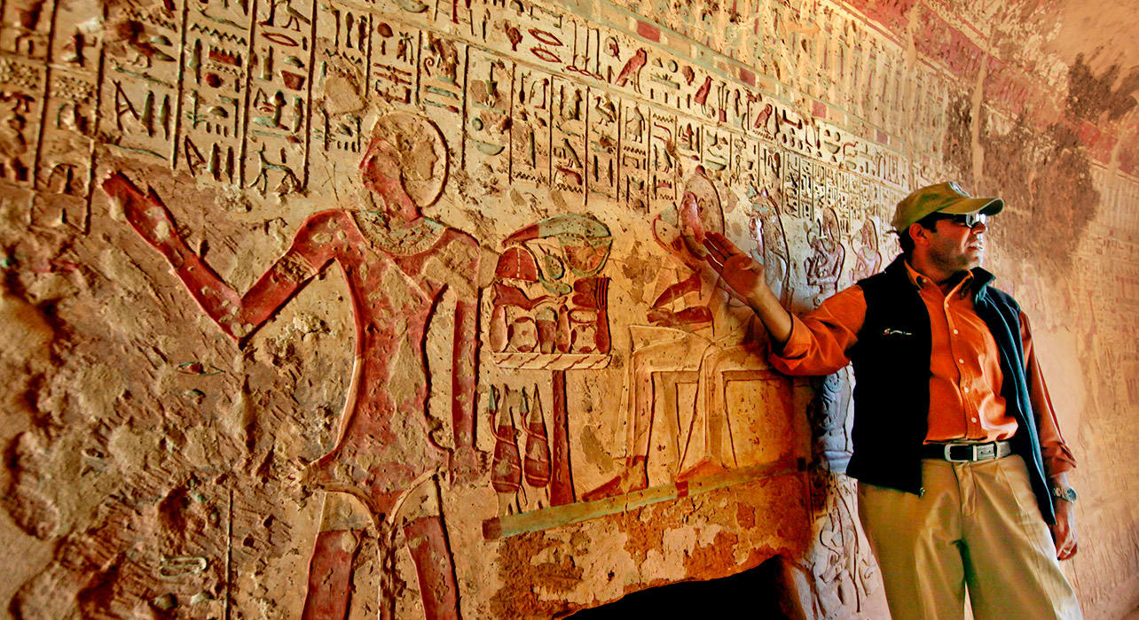 egypt ahmed interpreting hyroglyphics