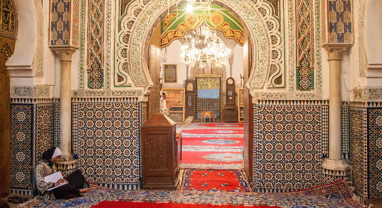 morocco fez ornate interior