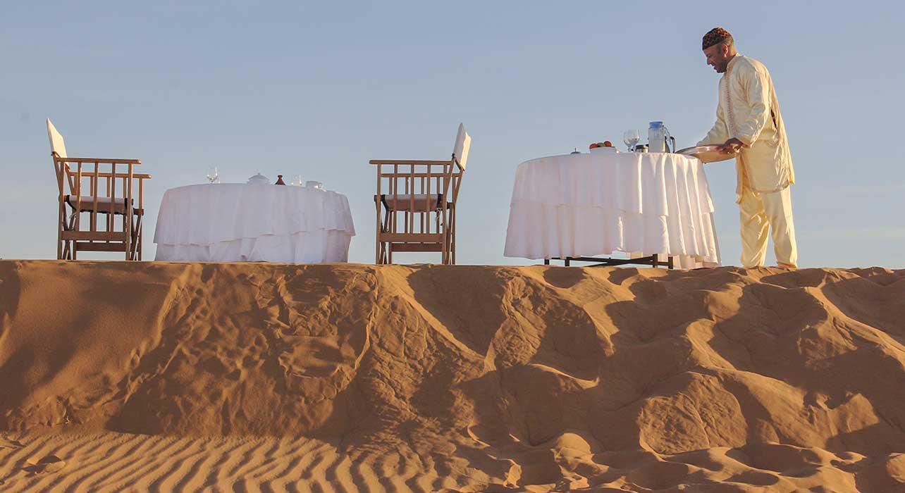 sahara breakfast service morocco