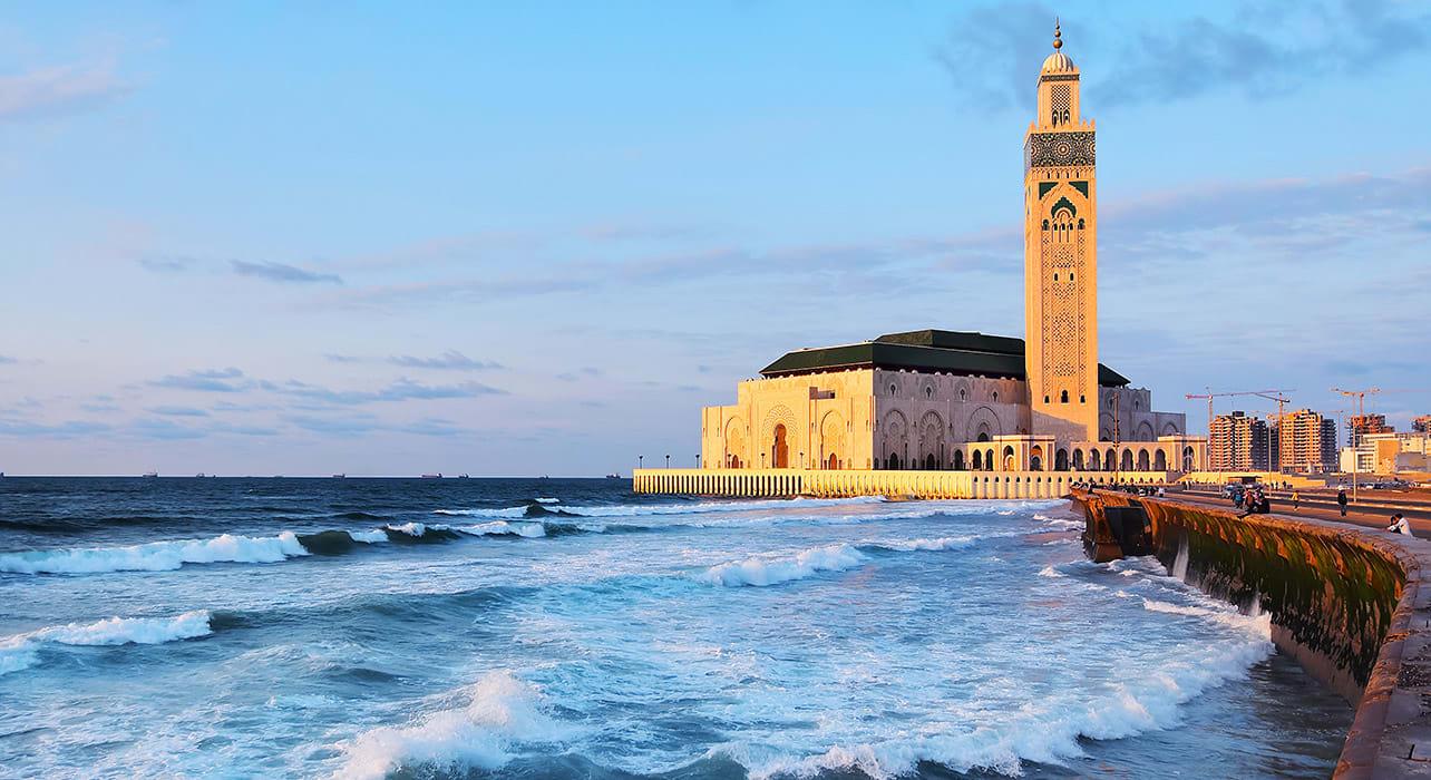 3 slide morocco atlas hassan ii mosque casablanca africa pano